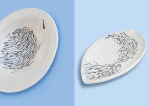 Marzia Devoto Ceramica collezione Acciughe in fuga